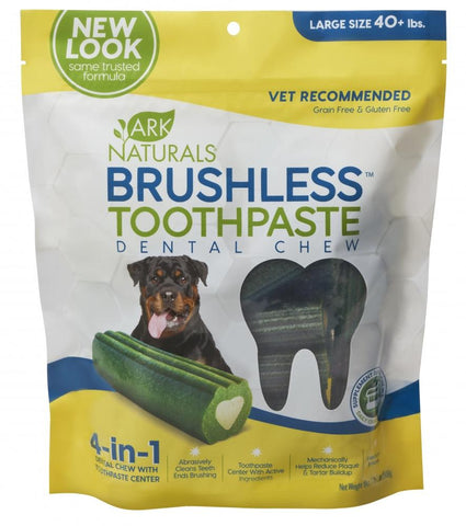 product zoomed image Ark Naturals Brushless Toothpaste Large Dog Treats