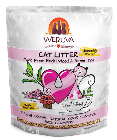 product zoomed image Weruva It's a Tea Party Hinoki Wood and Green Tea Cat Litter
