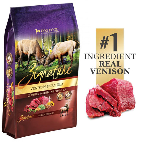 product zoomed image Zignature Limited Ingredient Diet Grain Free Venison Recipe Dry Dog Food