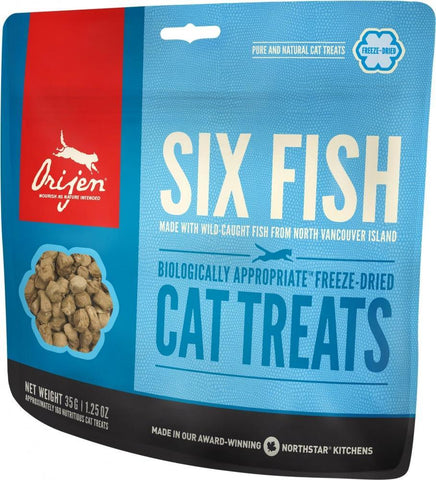 product zoomed image ORIJEN Grain Free Six Fish Freeze Dried Cat Treats
