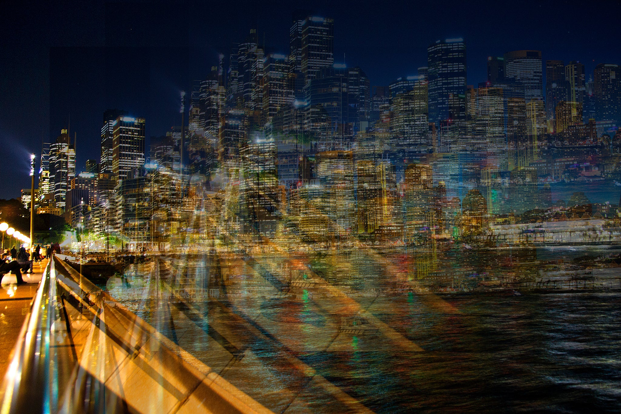 'Sydney at Night' - Blurred Lines