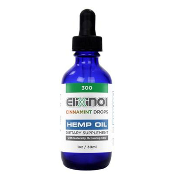 Elixinol Hemp Oil Drops 300mg - Cinnamint