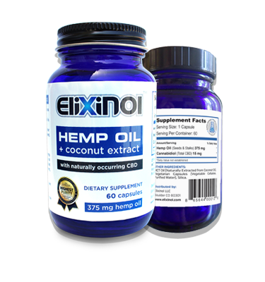 Elixinol Capsules - 900 MG of Hemp Oil Extract (CBD)