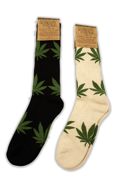 Hemp Leaf Long Socks