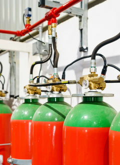 CO2 Fire Suppression Testing