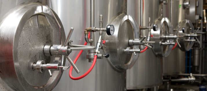 Brewery Tanks in Local Craft Brewery for CO2 Safety