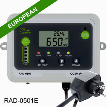 Day Night CO2 Monitor & Controller for Greenhouses - European Model