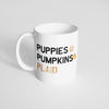 Puppies, Pumpkin, & Plaid Mug