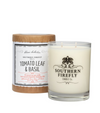 Tomato Leaf & Basil Glass Candle