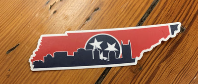 Skyline Vinyl Sticker