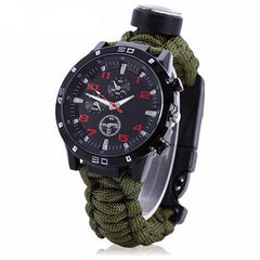 Multifunctional 6-in-1 Survival Paracord Watch