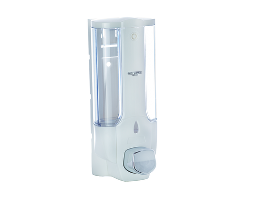 DW-138 Transparente con blanco <br> Dispensador manual de jabón