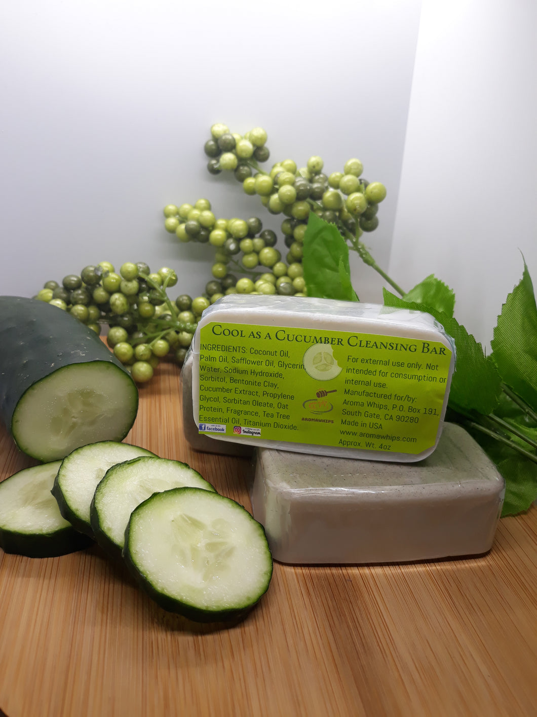 Cool As A Cucumber Cleansing Bar