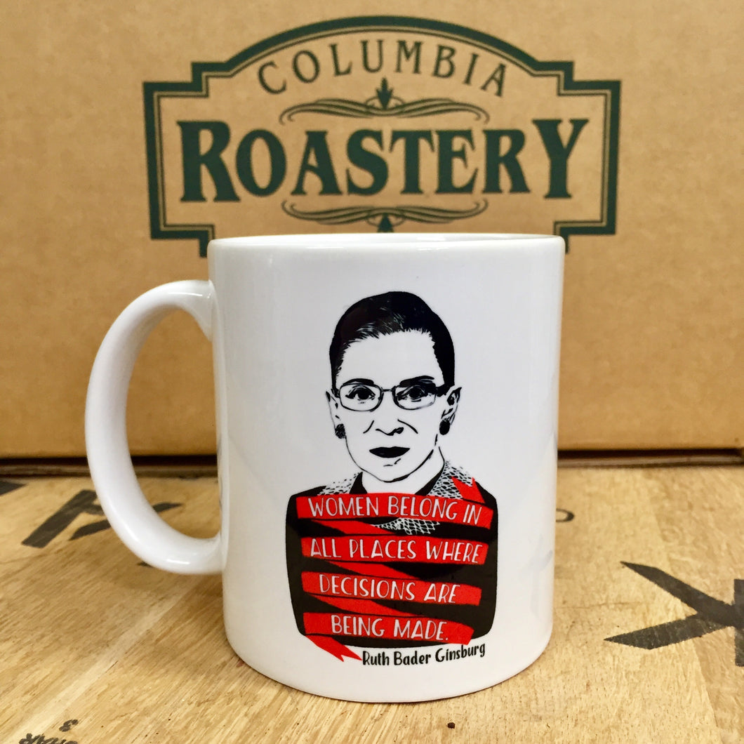 'Women belong' RBG Mug