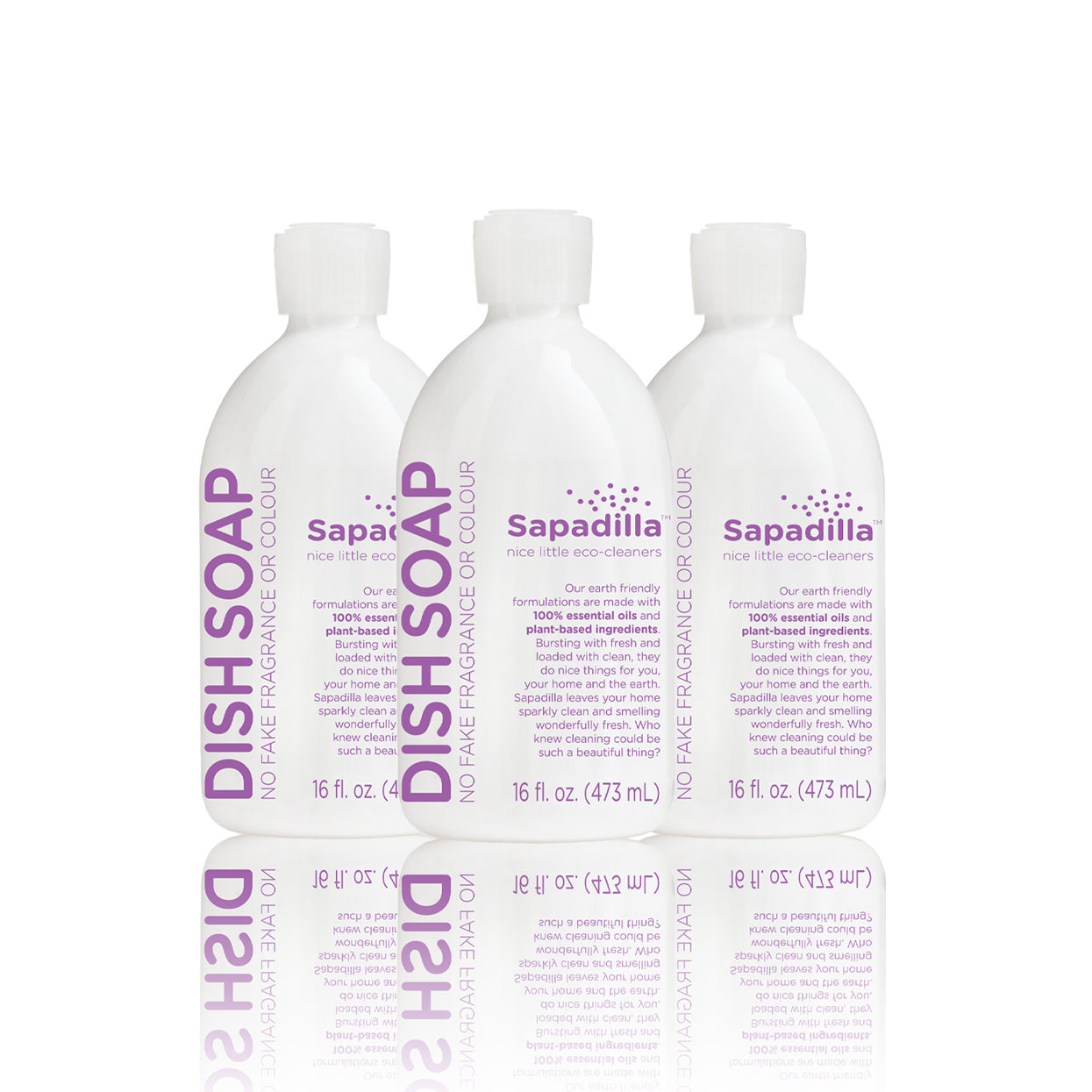 Sapadilla Sweet Lavender + Lime DISH SOAP 3 PACK