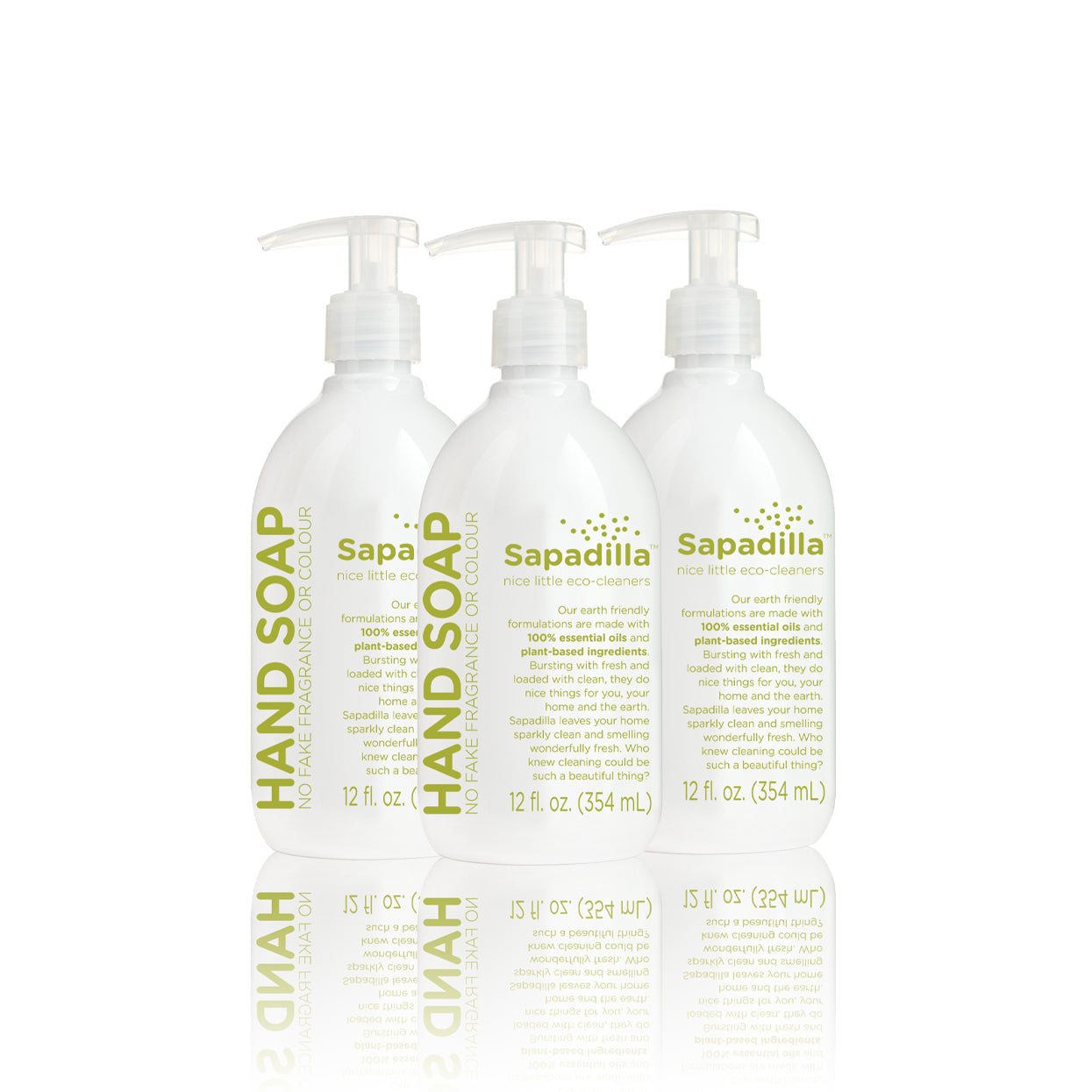 Sapadilla Rosemary + Peppermint HAND SOAP 3 PACK
