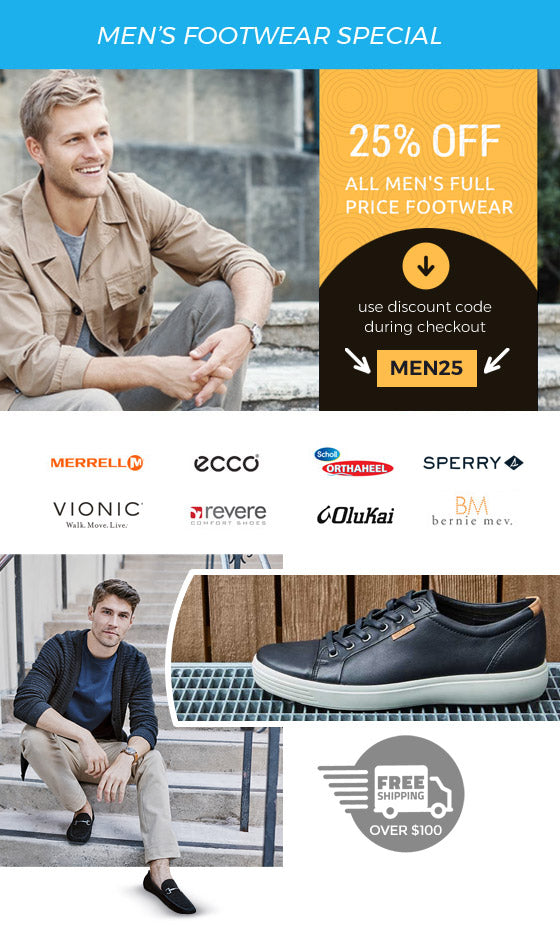 25% Off Men's Full Priced Footwear