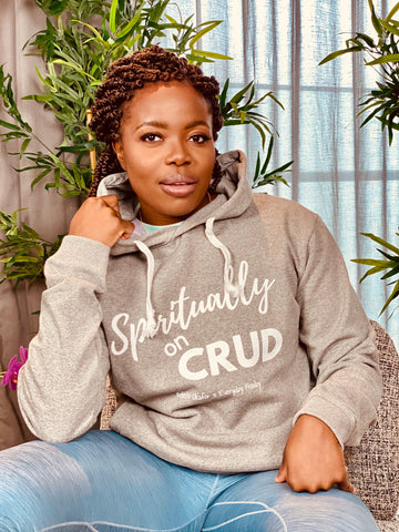 Spiritually on crud hoodie by Kelechi Okafor