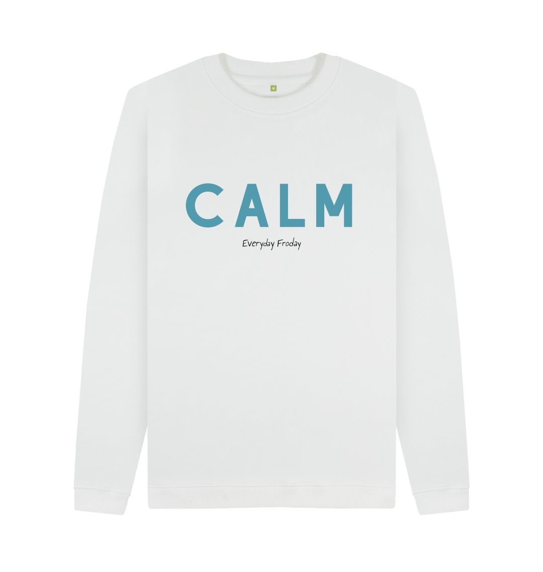 White Unisex Sweatshirt | Calm (white)