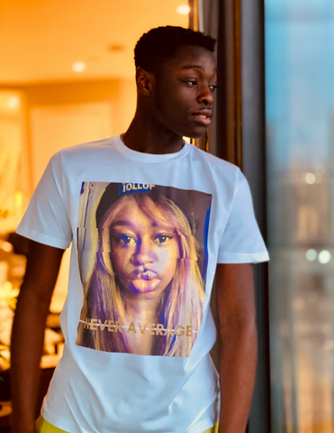 Unisex Tee | Never Average Face (white)