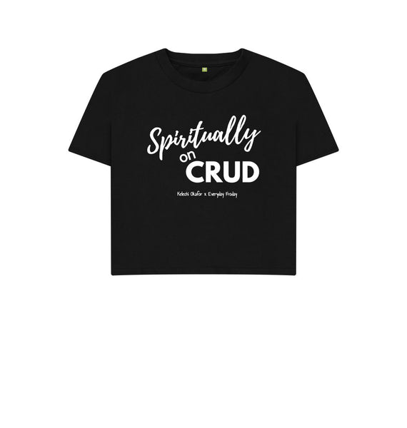 Black Boxy Tee | Spiritually on Crud