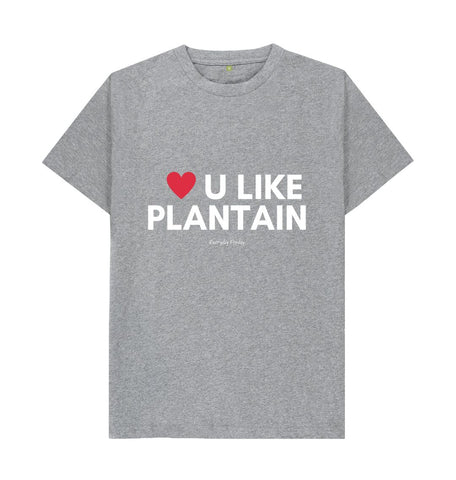 Athletic Grey Unisex Tee | Love U Like Plantain (Colour)