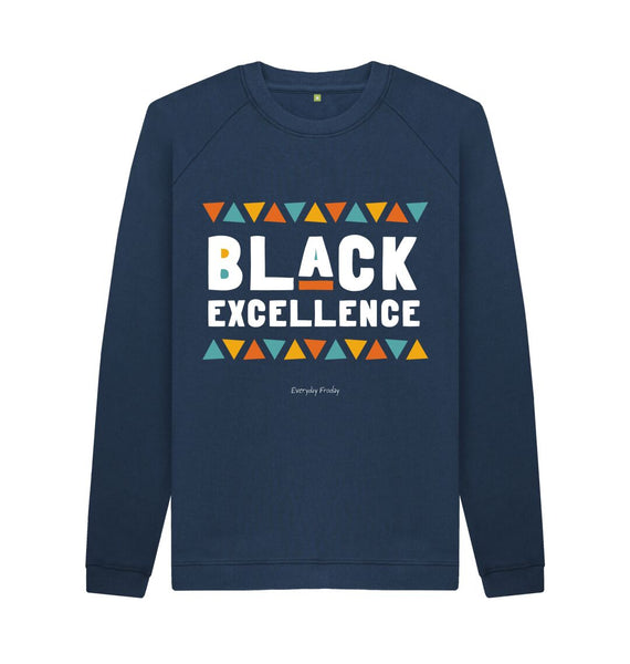 Navy Blue Unisex Sweatshirt | Black Excellence