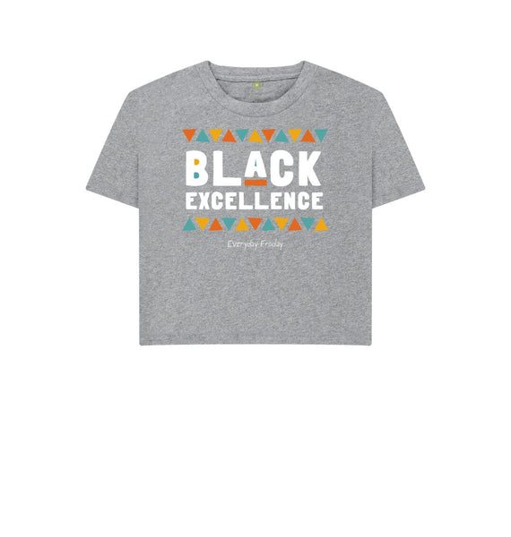Athletic Grey Boxy Tee | Black Excellence