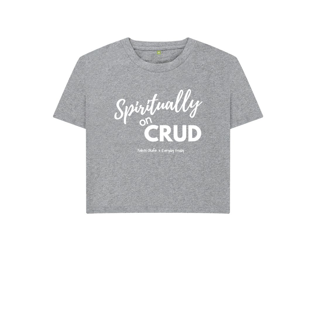 Athletic Grey Boxy Tee | Spiritually on Crud