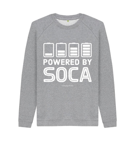 Light Heather Unisex Sweatshirt | Powered By Soca