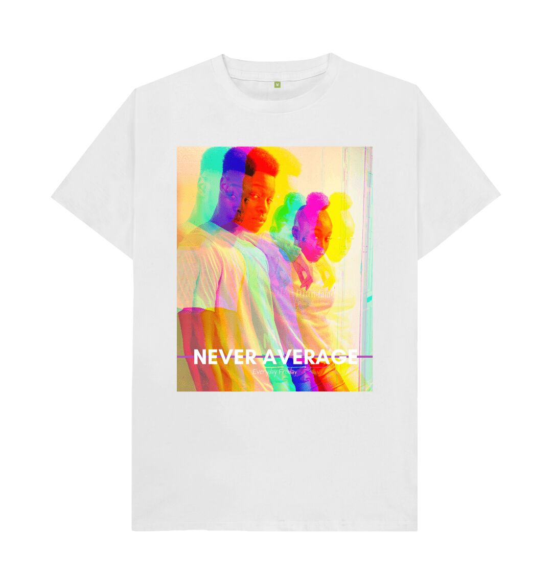 White Unisex Tee | Never Average Duo (white)