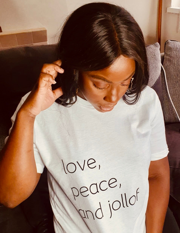 Unisex Tee | Love, Peace and Jollof