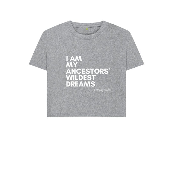 Athletic Grey Boxy Tee | I Am My Ancestors' Wildest Dreams