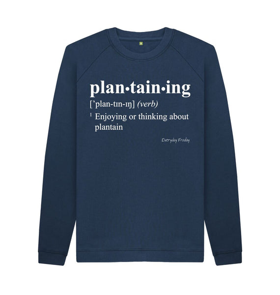 Navy Blue Unisex Sweatshirt | Plantaining
