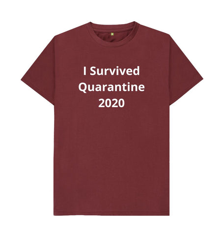 Red Wine Unisex Tee | I Survived Quarantine 2020