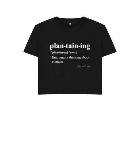Black Unisex Boxy | Plantaining