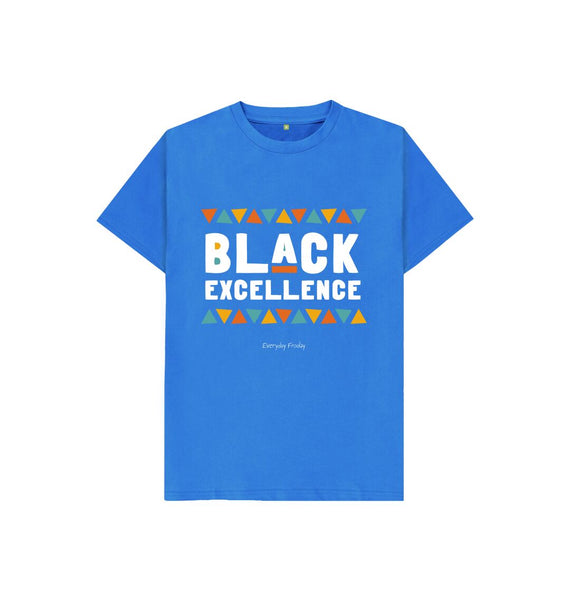 Bright Blue Unisex Kids Tee | Black Excellence