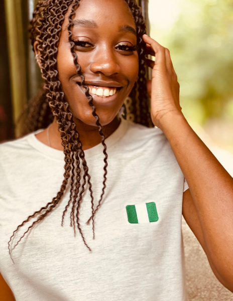 Crop Tee | Rep your flag - Nigeria 🇳🇬  [LIMITED EDITION]