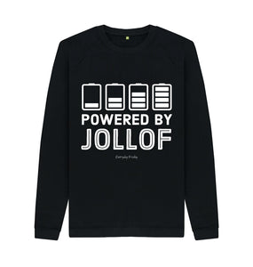 Black Unisex Sweatshirt | Powered By Jollof