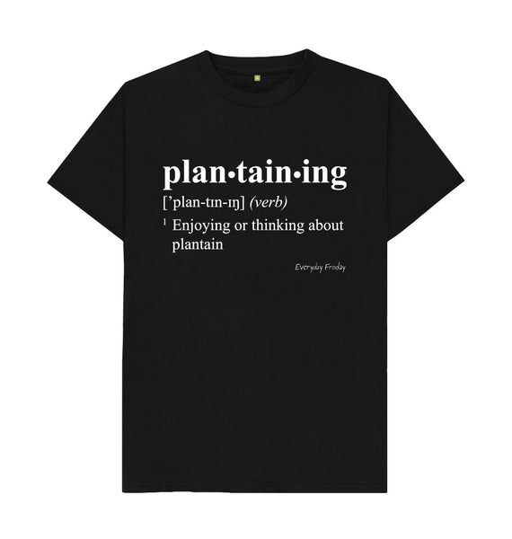 Black Unisex Tee | Plantaining (Colour)