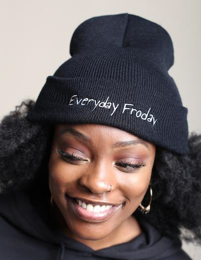 Everyday Froday Beanie in black