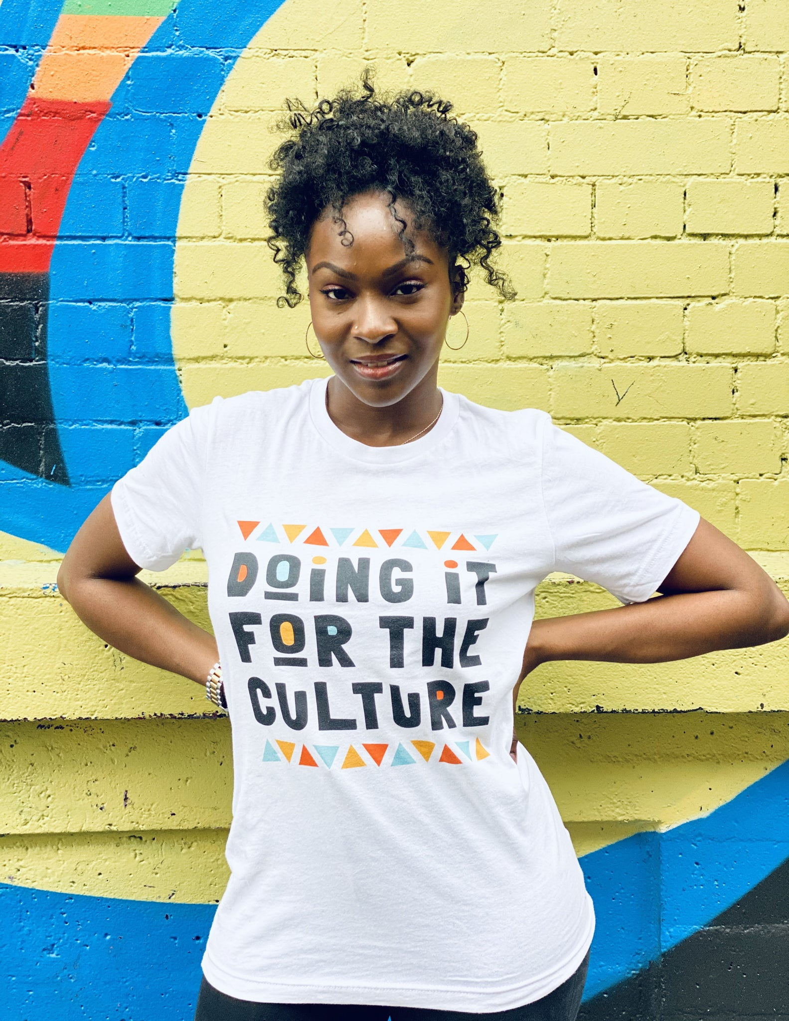 Doing It For The Culture Tee in White