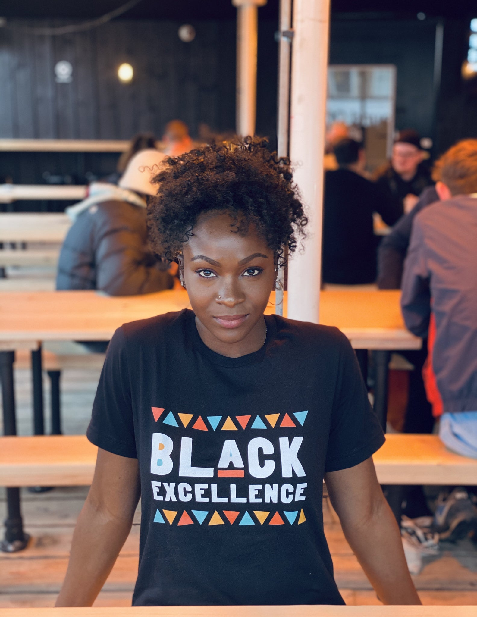 Black Excellence Tee in Black