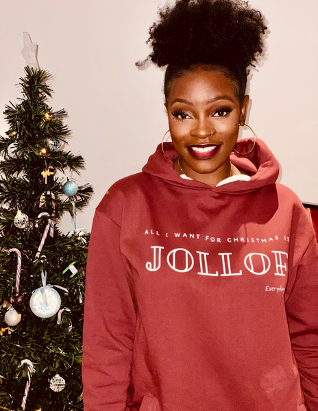 Unisex Hoodie | All I want for Christmas Is Jollof