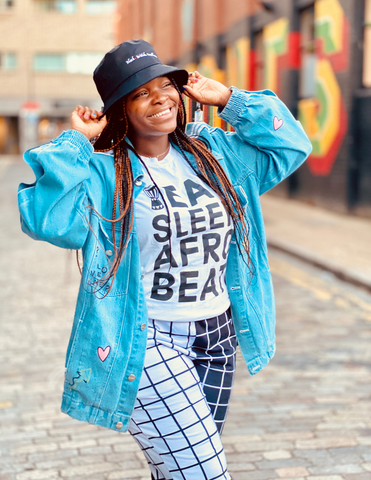 Unisex Tee | Eat Sleep Afrobeat (White)