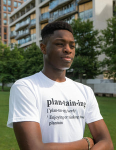 Unisex Tee | Plantaining (White)