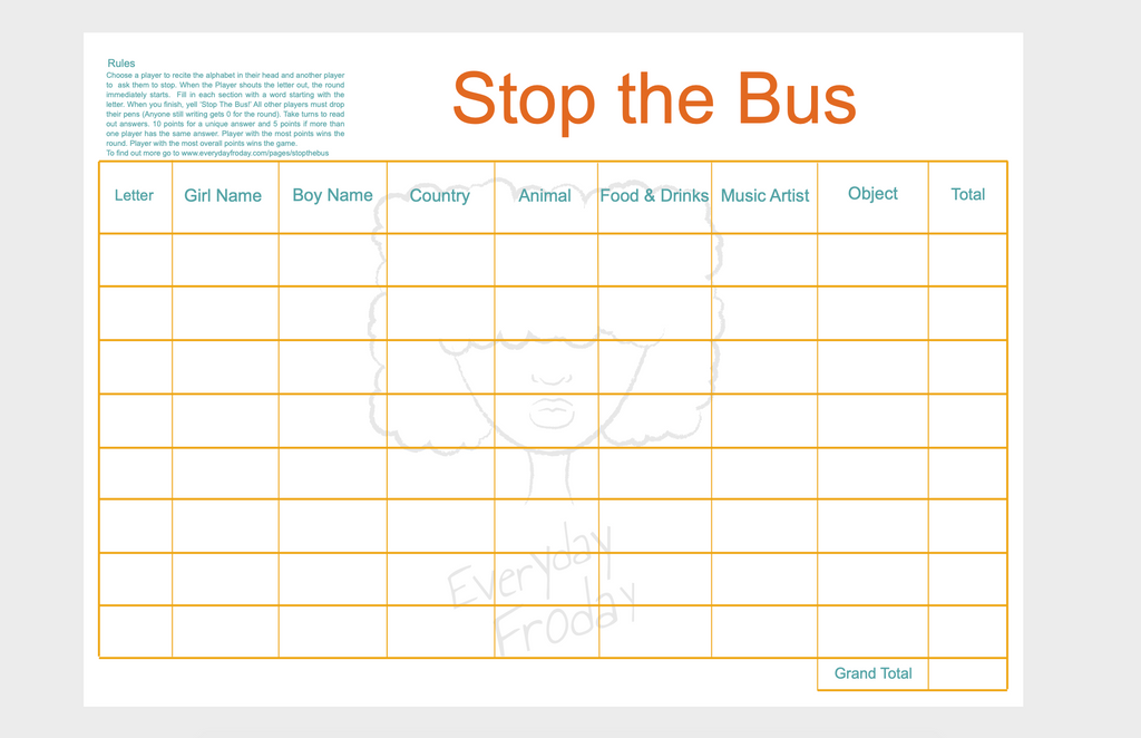 Stop the Bus game pad