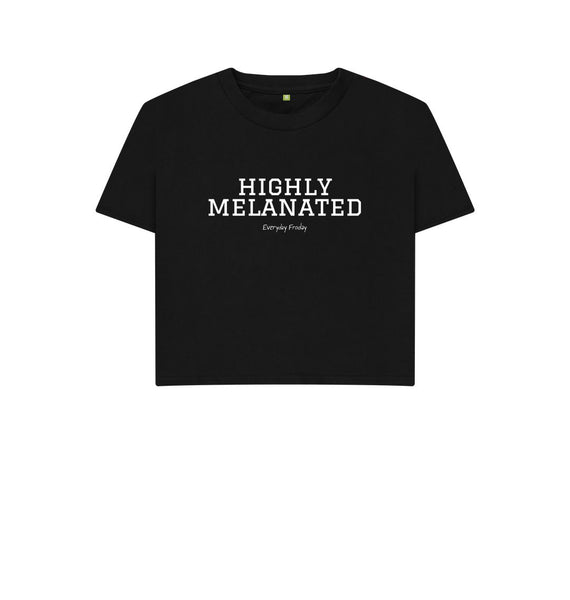 Black Boxy Tee | Highly Melanated