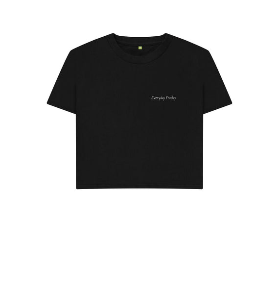 Black Unisex Boxy | Everyday Froday Classic Small Logo