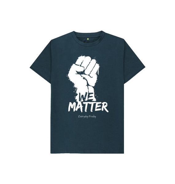 Denim Blue Unisex Kids Tee | We Matter
